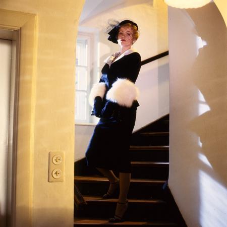 LOLA (BRD 1981). Barbara Sukowa bei einer Lichtprobe