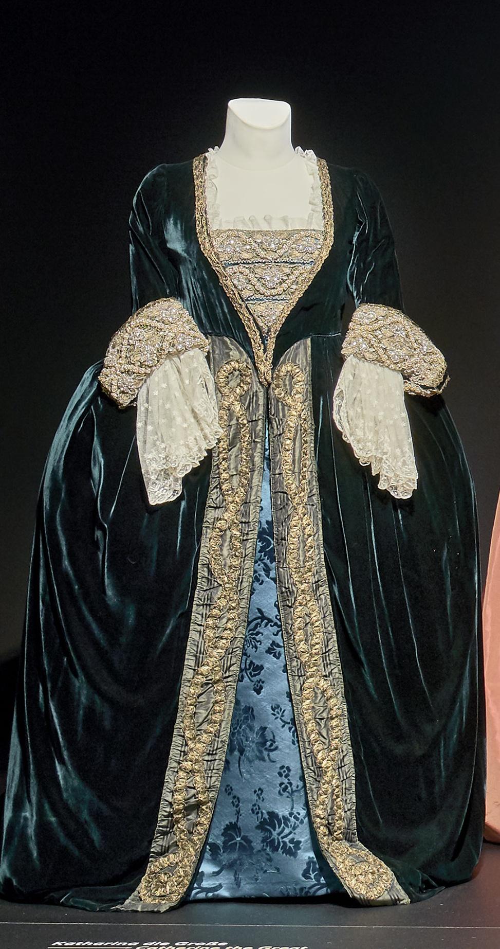 Katharina die Große: Blaues Samtkleid