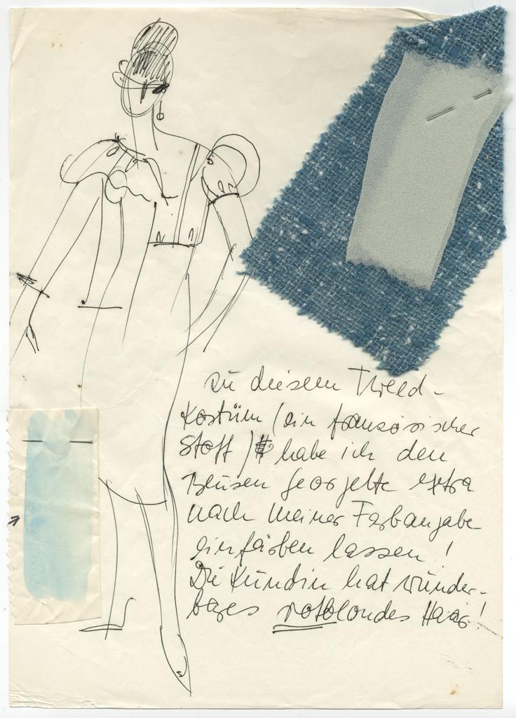 Entwurf für ein Tweed-Kostüm