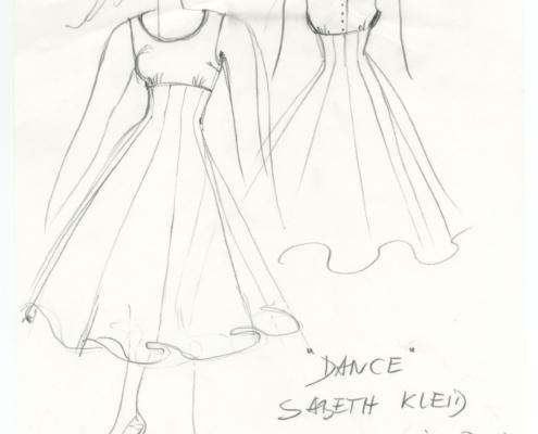 Homo Faber: Entwurf für das blaue Tanzkleid