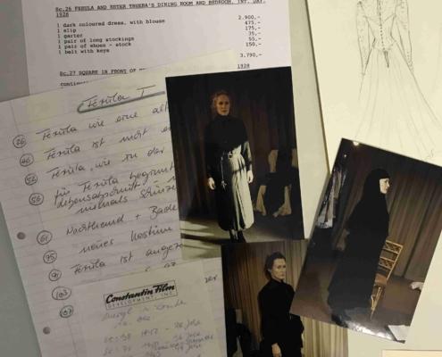 Das Geisterhaus: Kostümauszug und -liste für Ferula mit Anprobenfotos