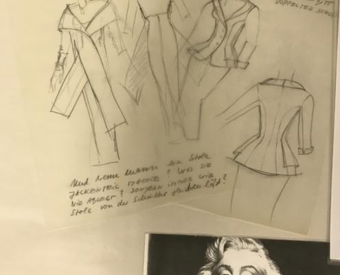 DAS MÄDCHEN ROSEMARIE: Skizzen für ein Tailleur