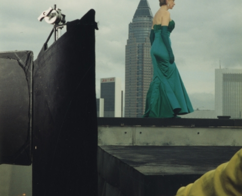 Der große Bagarozy: Dreharbeiten der Dach-Szene mit Corinna Harfouch und Til Schweiger